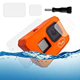 Ho Stevie! Floaty Case + Screen Protectors for GoPro Hero 8 Black | Ultra-Buoyant Floating Case with Long Screw | Save Your Memories