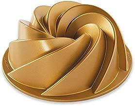 Forma para Bolo 6 Cup Heritage Bundt em Alumínio Fundido Nordic Ware Dourado/Prata