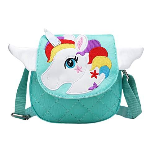 FENICAL bolso bandolera mini bolsa de mensajero unicornio monedero de teléfono lindo de dibujos animados monedero para niños niñas