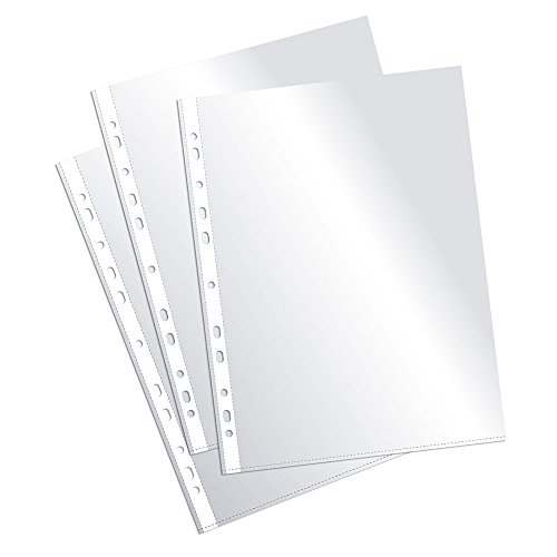 Plus Office EH303A-8/FC - Fundas multitaladro folio-cristal, 90 micras, 100 unidades, transparente