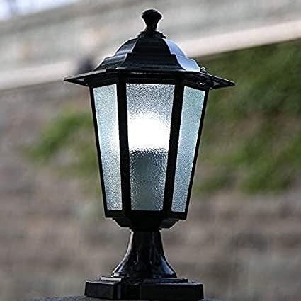 Poste Linterna Columna Luces Impermeable Aluminio fundido a presión Luz de pedestal Pared exterior Lámpara de pilar Clásico Elegante Valla exterior Mesa Luz Puerta Villa Jardín Porche Bolardo Iluminac
