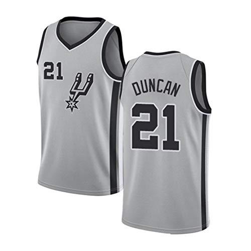 G&F Herren Basketball Trikot San Antonio Spurs #21 Tim Duncan Retro Basketball Swingman Trikots V-Ausschnitt Stickversion Tops S-XXL (Size : XL)