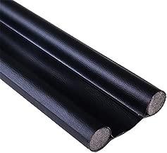 Miqil Door Bottom Sealing Strip, Door Seam Soundproof Bedroom Door, Thermal Insulation, Dust-Proof and Insect-Proof Sealing Tape Twin Door Draft Stopper Weather Stripping 96cm,1pc (Black)