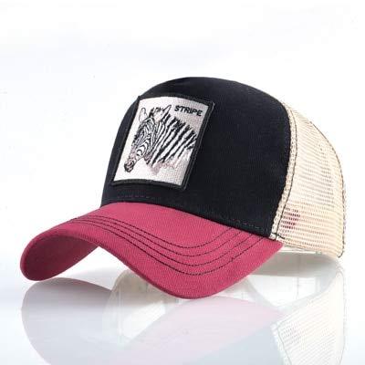 8 Tipos deGorras de béisbol para Hombres Gorras Snapback de Malla Transpirable Unisex Sombrero para el Sol para Mujeres Casquette Hip Hop-Stripe RD2
