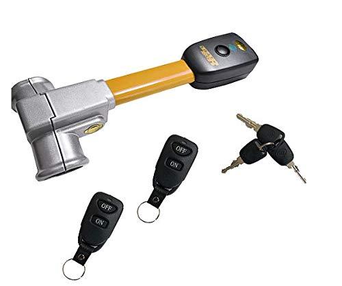 BETEC SWAT Pro SN Lock Diebstahlsicherung Autoalarm Lenkradkralle Lenkradsperre mit Alarm und 2 Funkfernbedienungen