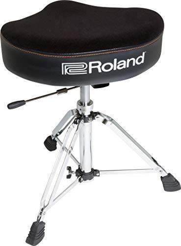 Banqueta de batería tipo sillín de Roland con asiento de velur y base hidráulica - RDT-SH