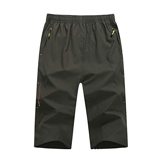 Soul hill Radhose Reißverschluss-Tasche Männer imprägniern Los Lose Fitness Shorts Mountain Bike Riding Shorts Schnell trocknend Komfortabel (Farbe: Blau, Größe: XXXXL)