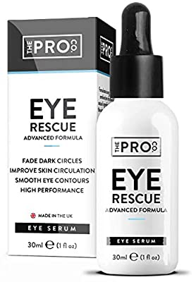 Anti Wrinkle Eye Rescue Serum - Vegan Friendly - Sustainable Plastic Free Packaging - Anti Dark Circles - Made in The UK by The Pro Co