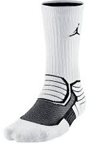 Air Jordan Jumpman Advance Crew Socks (White/Black) Large