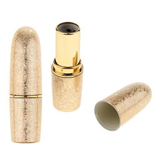 Toygogo 2pcs Tube de Rouge à Lèvres Vide Récipient Diy Cosmétiques Outils de Maquillage - Or