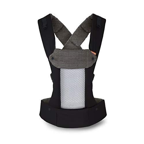 Beco 8 Babytrage von Geburt an - Black - belüfteter Rücken, einschließlich Neugeboreneneinsatz, für Babys von 3,2 bis 20 Kilogramm, 0 bis 48 Monate