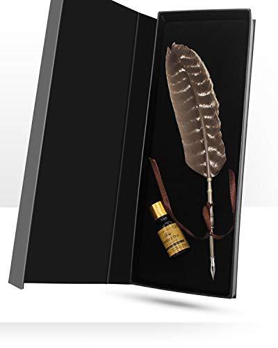 Kit De Calligraphie, Sayou® Stylo-Plume Antique / Stylos De Calligraphie Meilleur Cadeau Pour Ami (Marron)