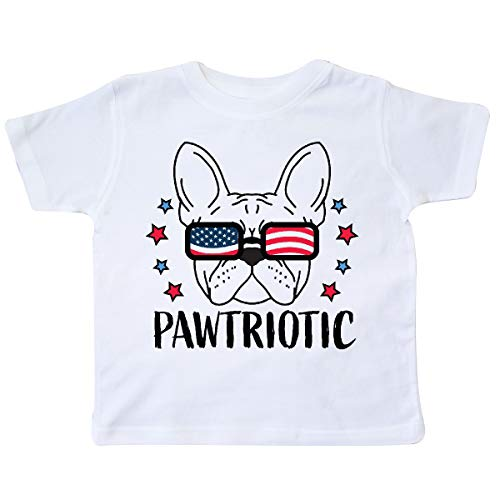 inktastic Pawtriotic with French Bulldog in Toddler T-Shirt 2T White 35e72