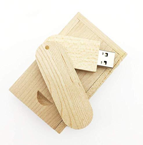 Beken roteren esdoorn hout USB Flash Drive USB Disk Memory Stick met doos 32GB 2.0