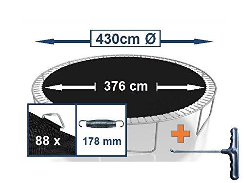 Sprungtuch Sprungmatte Ersatzteile für Trampolin Ø 430 cm 88 Ösen (Federn 17,8 cm)