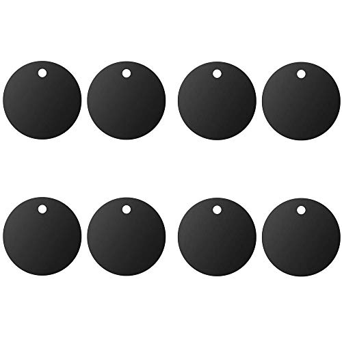 Mount Metal Plate(8Pack) for Magnetic Car Mount Phone Holder with Full Adhesive for Phone Magnet, Magnetic Mount, Car Mount Magnet-8X Round (Black)