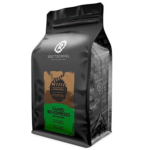 Espressobohnen CAMEO - Bio - dunkle Schokolade, vollmundig - handgeröstet - ideal für Vollautomat & Siebträger (500 Gramm)