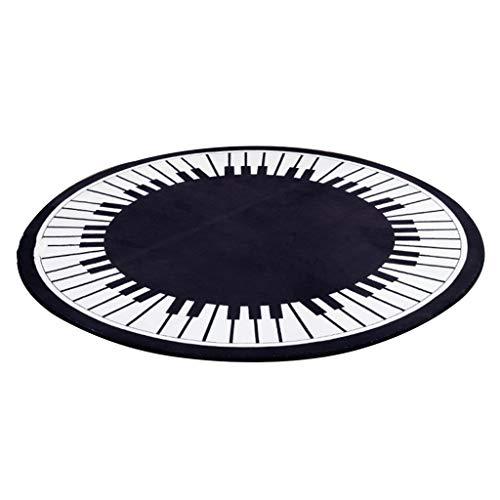 Round Carpet Coffee Table Bedroom Bedside Mat Computer Chair Mat Living Room Carpet Anti-Rausch-Rauschen Komfort-Dirty Floor Mat (Color : Black, Size : Diameter: 120cm)