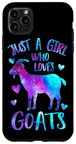 iPhone 11 Pro Max Just a Girl who loves Goats Cute Goat Farmer Galaxy Gift Case