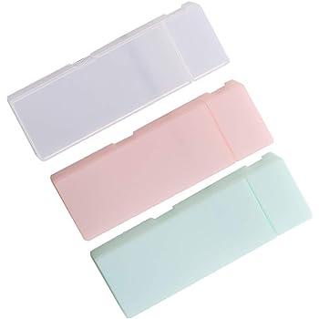 NUOLUX ペンケース プラスチック ペンボックス 可愛い 筆箱 女の子/男の子 半透明 3個セット