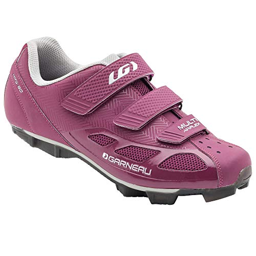 Louis Garneau, Women's Multi Air Flex Bike Shoes for Indoor Cycling, Commuting and MTB, SPD Cleats Compatible with MTB Pedals, Magenta/Drizzle, US (10), EU (41)