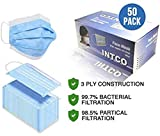 50 Pieces Disposable Face Masks, Mouth Masks with Ear Loops