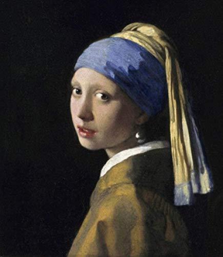 xpwan Malen nach Zahlen Erwachsene Anfänger Kinder Vermeer Mädchen Perlenohrringe Liebhaber, Kinder und Mütter-40X50CM-Mit Rahmen