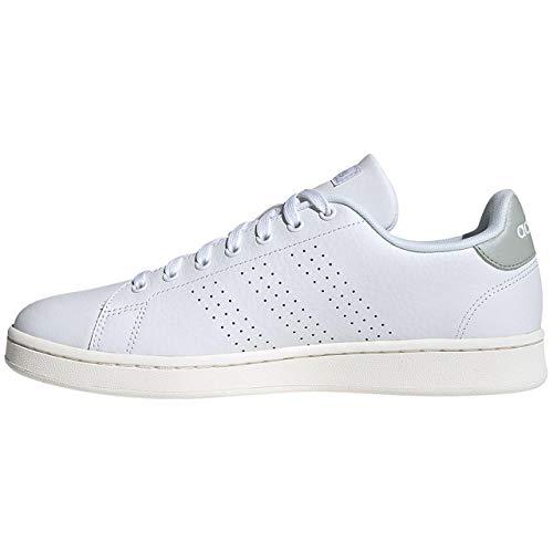 Adidas Advantage, Running Shoe Mens, White/Ash Silver, 36 EU