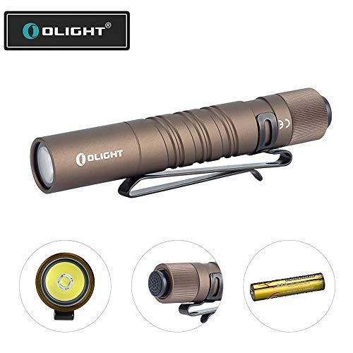 OLIGHT I3T EOS Taschenlampe 180 Lumen 60 Meter Reichweite, Mini LED Taschenlampe für schlüsselanhänger Desert Tan