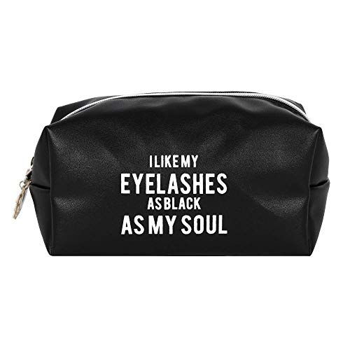 Trousse de Maquillage Femme I Like My Eyelashes As Black As My Soul 25x14cm Noir