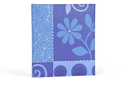 Henzo 9820007 Flower Festival Fotoalbum, blau, 29 x 33 x 6 cm