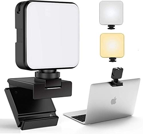 FDKOBE Videokonferenz-Beleuchtungskit mit Webcam-Halterung für Laptop/Computer,Webcam-Beleuchtung für Remote-Arbeit,Zoom-Anrufe, Beleuchtung für Zoom,Live-Streaming,Selbstübertragung, für Mac,Monitor