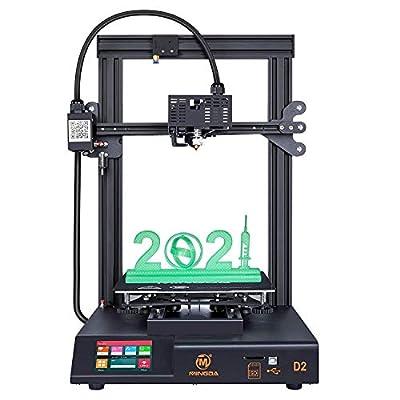 MINGDA 3D Printer D2 with Dual Z, Direct Drive Extruder, TMC2208 Silent Board, Filament Detector, Resume Printing, DIY 3D Printing Kit for Beginners, 230x230x260mm
