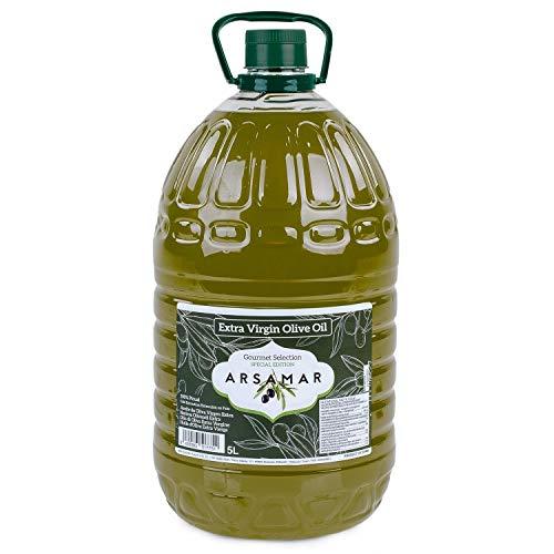 Spanisches Natives Olivenöl Extra der Sorte Picual. Frühextraktion gewonnen aus der ersten Kaltpressung in einem (5 Liter Flasche)