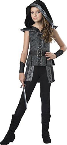 InCharacter Costumes Big Girl's Dark Woods Huntress Medium Childrens Costume, Multi, Medium Black/Gray