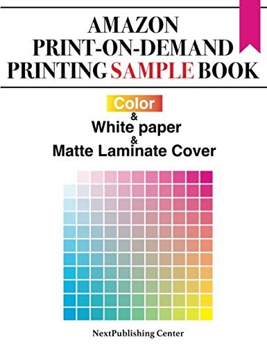 Amazon Print-on-Demand Printing Sample Book: Color & White paper & Matte Laminate Cover