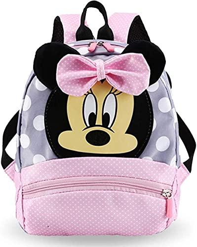 YMWL Mochilas Escolares Mochila Infantil Material Escolar para Niñas Mochila Infantil con Minnie Mouse en Diseño 3D Mochila Rosa de Gran Capacidad Regalos Originales para Niñas