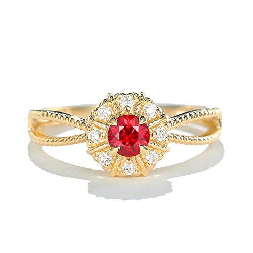 Socoz 18K Gold Rings for Women Promise,Sun X Form Celtic Ring Gold Wedding Rings for Women Gold