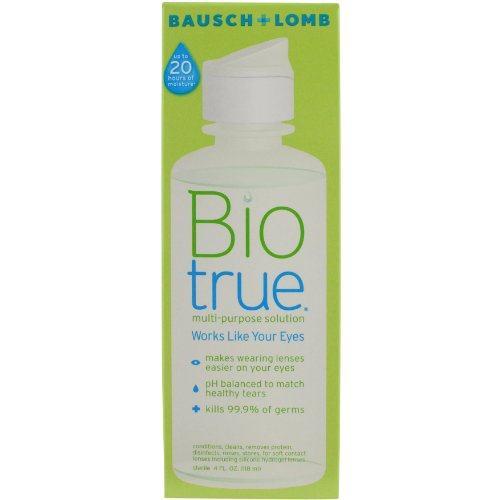 Contact Lens Solution by Biotrue, Multi-Purpose Solution for Soft Contact Lenses, 4 Fl Oz