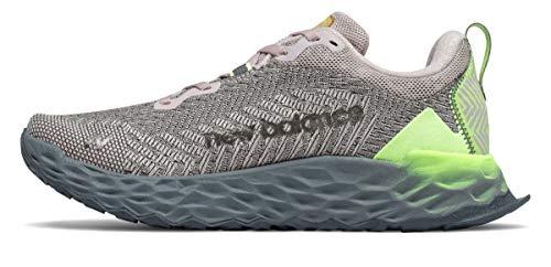 New Balance Women's Fresh Foam Hierro V6 Trail Running Shoe, Raw Silk/Logwood, 10