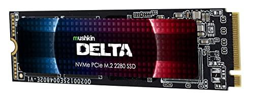 Mushkin Delta Gen 4.0 - 1TB PCIe Gen4 x4 NVMe 1.3 - M.2 (2280) Gaming Internal Solid State Drive (SSD) - 3D QLC - Hardware-Verschlüsselung - (MKNSSDDE1TB-D8)