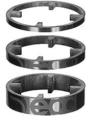 Deda Elementi HSS 46 Carbon Espaciadores de Auriculares, Unisex Adulto, Bob (Negro sobre Negro), 3/5/10mm (3 Pack)