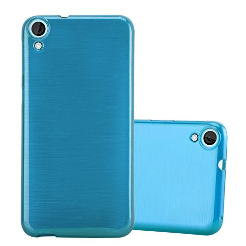 Cadorabo Funda para HTC Desire 820 en Turquesa - Cubierta Proteccíon de Silicona TPU Delgada e Flexible con Antichoque - Gel Case Cover Carcasa Ligera
