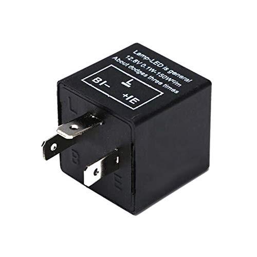 Interruptor de coche LED CF14 3 pines Ajustar 12 V LED Intermitente de señal de giro del coche Indicador intermitente Luz LED intermitente 12 V Frecuencia ajustable