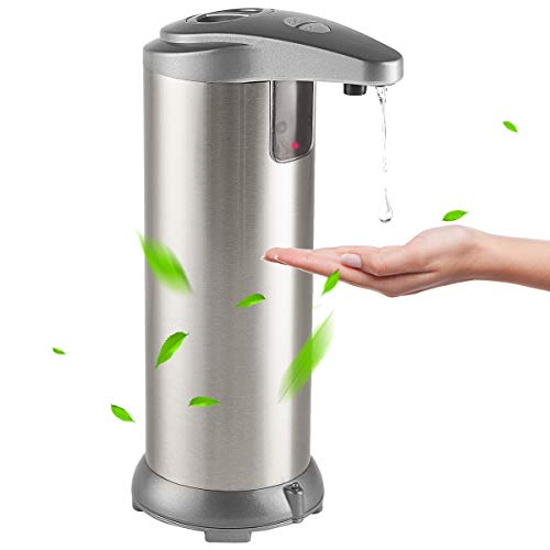vplus Automatic Soap Dispenser, Touchless Soap Dispenser with Waterproof Base Suitable for Bathroom Kitchen Hotel Restaurant