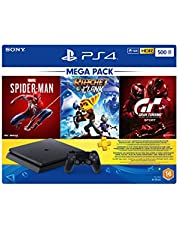 Sony Playstation 4 500GB Slim Console Hits Bundle with Spiderman, Ratchet & Clank, Gran Turismo Sport and 3 Months PS Plus Subscription