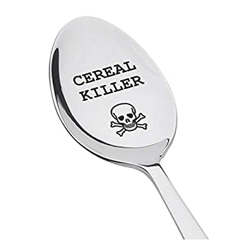 Cereal killer Spoon   Best selling items   Funny gift  cereal spoon   Engraved spoon   personalized spoon   gifts under $20   top selling items  