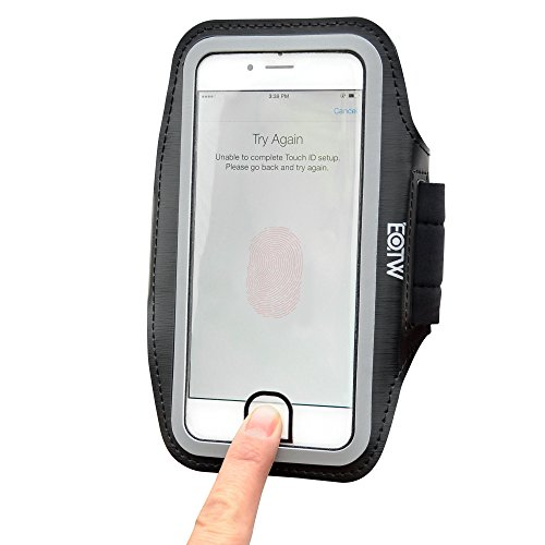 EOTW Brazalete Movil Compatible para iPhone 8/7/6/6s 4.7 Pulgade, Brazalete Ajustable Corriendo con Toque ID Negro