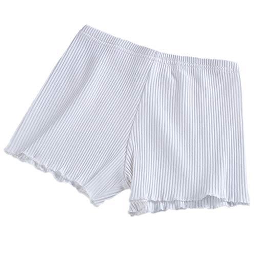 CARRYKT dames zomer veiligheidsbroek draad geribbeld gestreept naadloos stretchy onderbroek effen roos paddenstoelzoom boxershorts