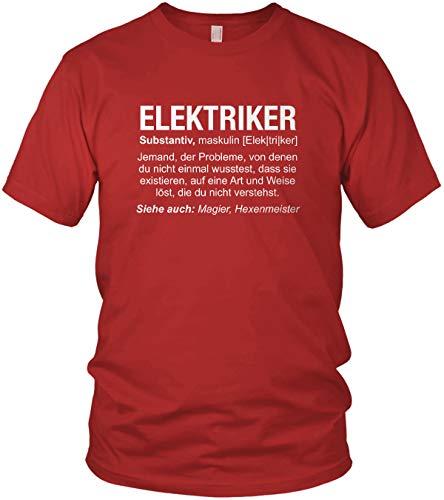 vanVerden Wikipedia - Camiseta para Hombre, diseño con Texto Job Spruch Rojo XL
